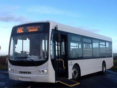 Cannon Bus viewed from the outside with disabled ramp  - Bus Sales, UK from Cannon Bus, Strabane, County Tyrone, N. Ireland