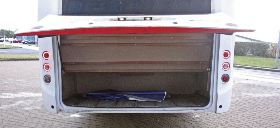 Large illuminated rear boot in the Cannon Euro Variant Luxor coach New coach for sale Ireland